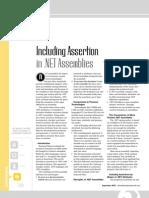 Including Assertions in NET Assemblies (Dot Net Developers Journal)