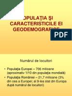 Populatia Europei Si Romaniei - prezentare