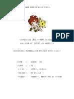 New Add Math Project Work 2/2013