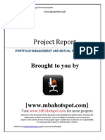 Portfolio Management and Mutual Fund Analysis for Sbi Group Mbahotspot.com