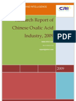 Research Report of Chinese Oxalic Acid Industry, 2009