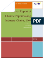 Research Report of Chinese Papermaking Industry Chains, 2009