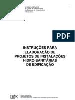 Projetos de Instalacoes Hidro-Sanitarias de Edificacao