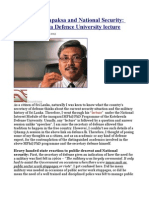 Gotabaya Rajapaksa and National Security the Kotelawala Defence University Lecture