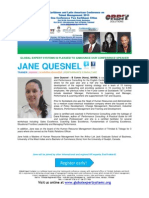 Caribbean & Latin American Conference on Talent Management 2013 BIO JANE QUESNEL