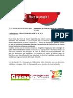 CommuniqueFRONT de GAUCHE - Elections Municipales 2014