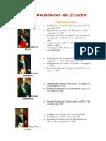 Lista de Presidentes Del Ecuador