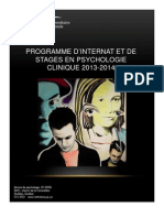 Programme Internat Psychologie