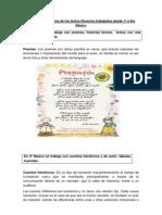 Conceptualizaciones de los textos literarios trabajados desde 1º a 6to Básico