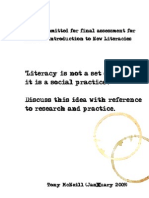 Blogging as New Literacy Practice