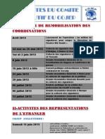 Activites Du Comite Executif Du Cojep