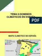 TEMA 6 - DOMINIOS CLIMÁTICOS