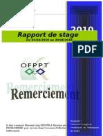 Rapport de Stage 2010 Radouane