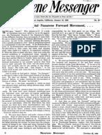 Nazarene Messenger - January 23, 1908
