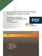 Apresentação - simulador de preços de energia elétrica