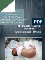 Anestesia Caudal en Pediatria