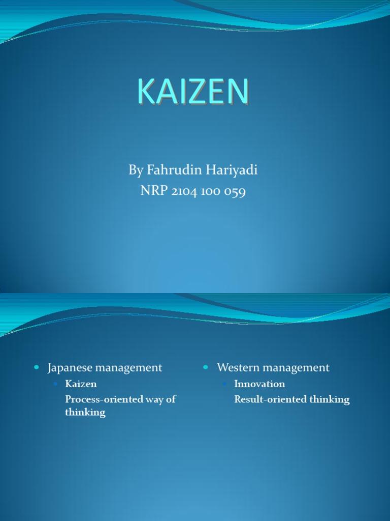 Kaizen Lean Manufacturing Accountability