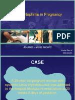 Lupus Nephritis in Pregnancy