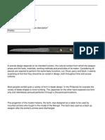 34 Knife Design