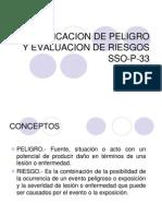 Identificacion de Peligro y Evaluacion de Riesgos Sso-p-33