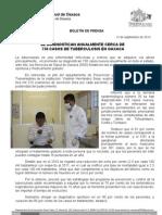 12/09/12 Germán Tenorio Vasconcelos se Diagnostican Anualmente en Oaxaca 730 Casos de Tuberculosis