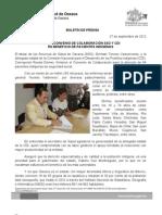 27/09/12 Germán Tenorio Vasconcelos FIRMAN CONVENIO DE COLABORACIÓN SSO Y CDI EN BENEFICIO DE PACIENTES INDÍ_0
