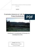 Contrastes térmicos no vale da ribeira do Pisão (Alcabideche)