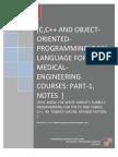 C,C++ Language for Bio-medical Engineering Courses