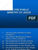 Theology 111- The Pre-public Ministry of Jesus Christ