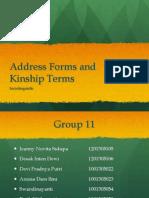 Address Forms and Kinship Terms