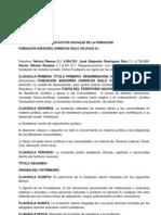 Acta Constitutiva y Estatutos Sociales de La Fundacion