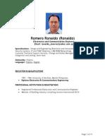 Resume of Ronaldo Romero_Project Engineer