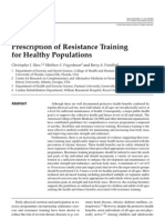 Prescription of Resistance Training for Healthy Populations