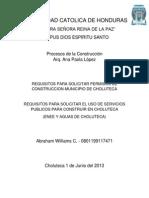 Requisitos para Permisos Construcción