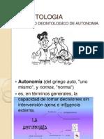 DEONTOLOGIA AUTONOMIA