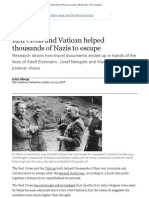 Alberge, Dalya - Red Cross and Vatican Helped Thousands of Nazis Escape (the Guardian, 25 May 2011)