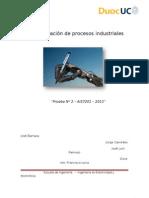 Informe Certamen N°2 Automatización
