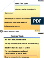 Data Types Operators and Variables
