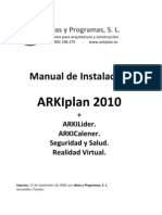 Manual de Instalacion de ARKIplan 2010