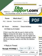 Pctfree vs Pctused Oracle Khaled Jouini