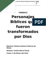 Personajes Que Fueron Transformados Por Dios