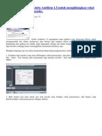 Cara Menggunakan Adobe Audition 1
