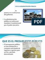 MANEJO FINANCIERO DE LA ADMINISTRACIÓN PÚBLICA  PRESENTACION
