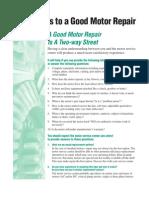 Motor Repair Guide