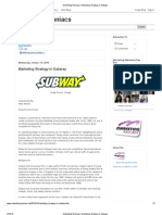 Marketing Maniacs_ Marketing Strategy in Subway