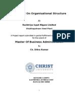 organisation structure steel plant visakhapatnam