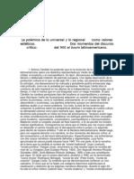 Claudio Maíz (artículo) - La polémica de lo universal y lo regional como valores estéticos