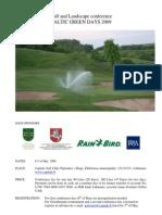 Baltic Golf Greenkeepers Championship Will Start