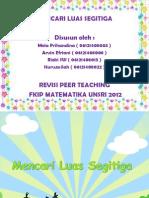 mencari luas segitiga materi kelas 4 (peer teaching PMRI)