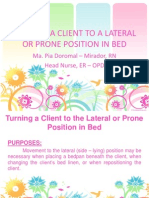 Turning a Client to a Lateral or Prone